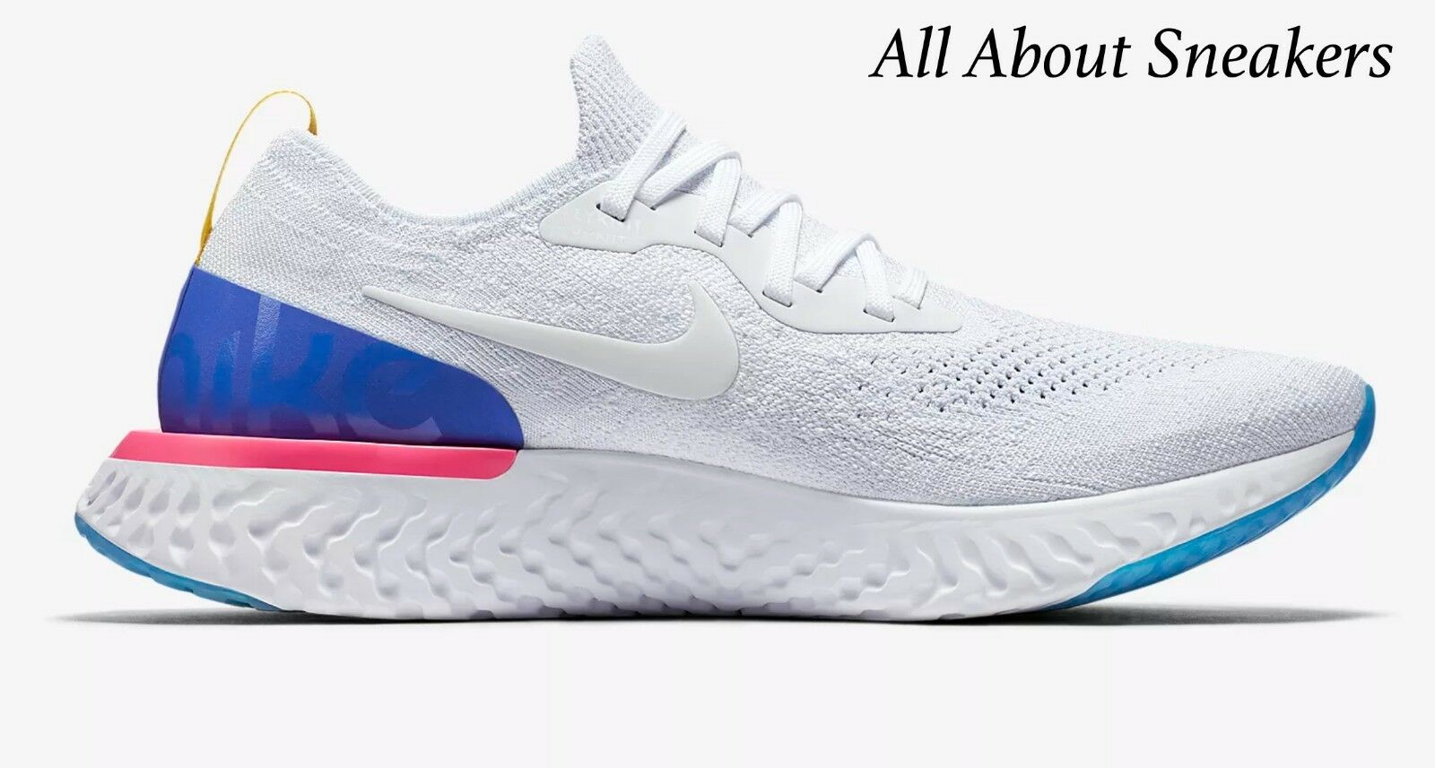 Nike Epic React Flyknit White Men's Trainer Limited Stock