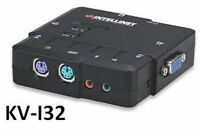 Intellinet 2port Compact Ps/2 Kvm Switch W/ Cables, Mic