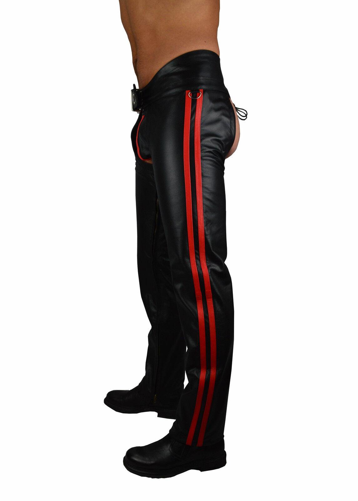 Awanstar Leather Chaps, Pantaloni Pantaloni Pantaloni di pelle, Leder Chaps Cuir Gay Chaps Pantaloni Motociclista bb28b1