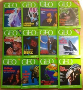GEO-Zeitschrift-1993-komplett-Bild-der-Erde-Jahrgang-12-Hefte-Sammlung-Natur