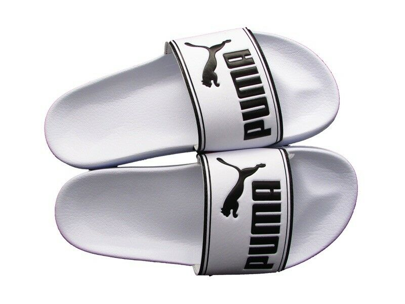 Men's/Women's PUMA SLIPPER LEADCAT WHITE BLACK choice 360263-08 Elegant shape International choice BLACK Various latest designs 4faa05