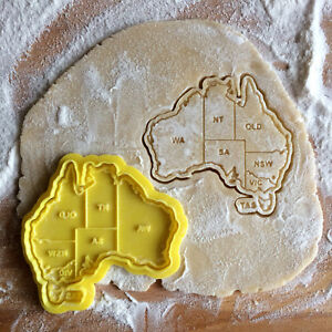 Details about Australia cookie cutter. Australia map cookie stamp. on