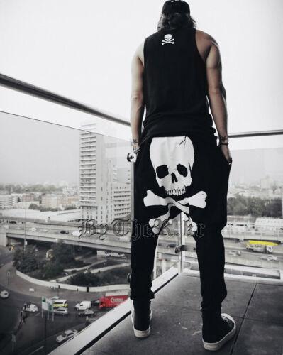 jogging La Mode Pantalon USA vendeur: Men/'s Skull Harem Baggy Pants Pantalon Loisirs