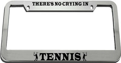 Black License Plate Frame There/'s No Crying In MMA Auto Accessory Novelty