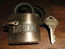 1940's Sargent Lock Solid Brass Lock with Key For Mail Boxes Dog Collar