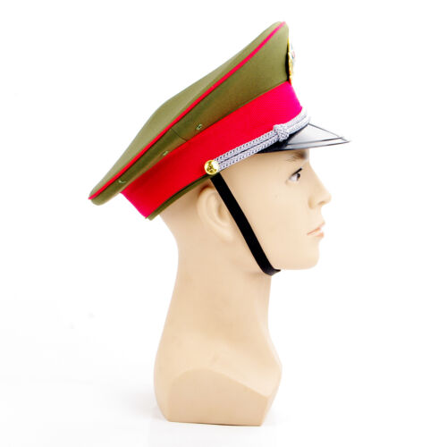 59cm Military officer Chinese Communist Army Cap Captain/'s Visor Hat Collection