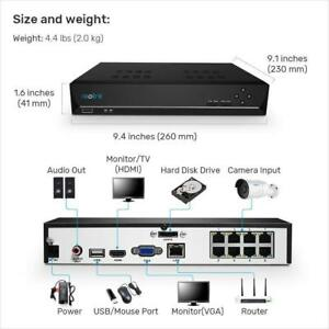 Details about Reolink 8CH PoE NVR for SWANN NHD806 NHD815 NHD818 ,replace  7085 7300 7400 NVRs