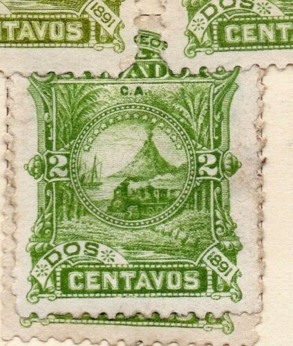 Salvador 1891 Early Issue Fine Mint Hinged 2c. 152563