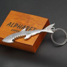 1 Schlüsselanhänger Bieröffner Flaschenöffner Hai Fisch Silber Farbe