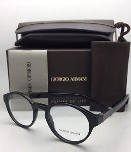 e51f8e1bf6a New GIORGIO ARMANI Classic Eyeglasses AR 7002 5017 50-20 Black Round ...