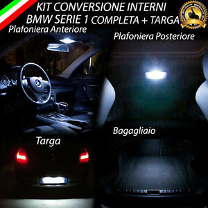 KIT-LED-INTERNI-COMPLETO-PER-BMW-SERIE-1-E87-LED-TARGA-CANBUS-BIANCO-NO-ERROR