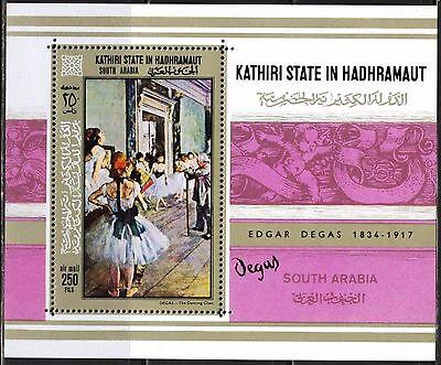 Hadhramaut 1967 Art Paintings E Degas S/s Mnh** Mi.:bl.19 15,00 Eur Big Clearance Sale Sunny Aden