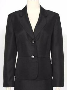 Le-Suit-Black-Jacket-Only-Size-2P-Polyester-Women-039-s-New