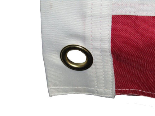 5x8 Embroidered Sewn USA American Synthetic Cotton Flag 5/'x8/' Grommets
