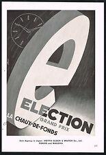 1950's Vintage Election Grand Prix Watch Co Mid Century Modern Emmi Art Print AD