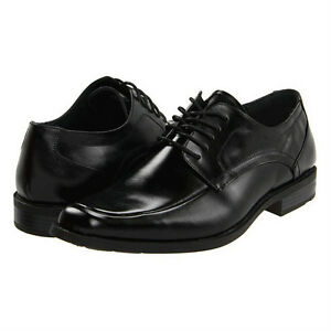 Stacy-Adams-CALHOUN-Mens-Black-Leather-Lace-Up-Comfort-Moc-Toe-Dress-Shoe