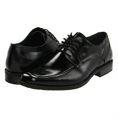 Stacy Adams CALHOUN Mens Black Leather Lace-Up Comfort Moc Toe Dress Shoe