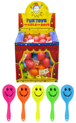 Mini Smiley Maracas Children/'s Party Bag Fillers Rattle Shaking Kids Toys