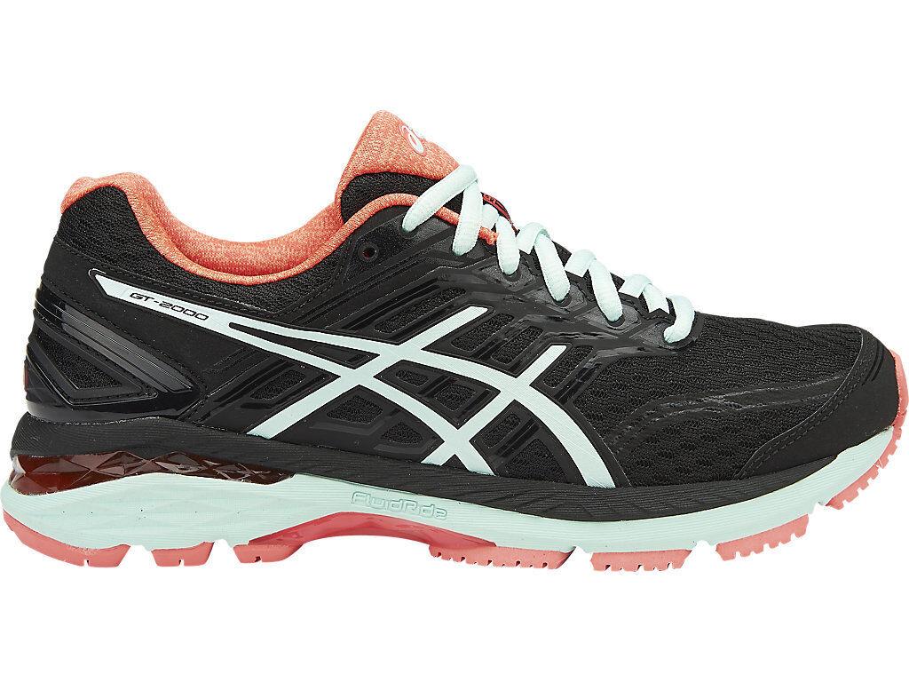 Auténtico Asics Gt 2000 5 Zapatos para mujer corrojoor de funcionamiento (D) (9087)