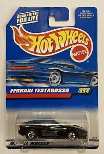 1998-Hotwheels-Ferrari-Testarossa-Preto-muito-Raro-Perfeito-Moc
