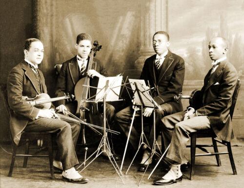 "1923 African American String Quartet Vintage Old Photo 8.5/"" x 11/"" Reprint"