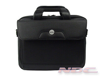 "NEW Dell Genuine Leather Premium Laptop Bag For 14.1"" Laptops-PG780"