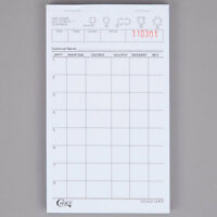 Choice 1 Part White Waiter / Waitress Order Pad - 10/pack 999a4716wp