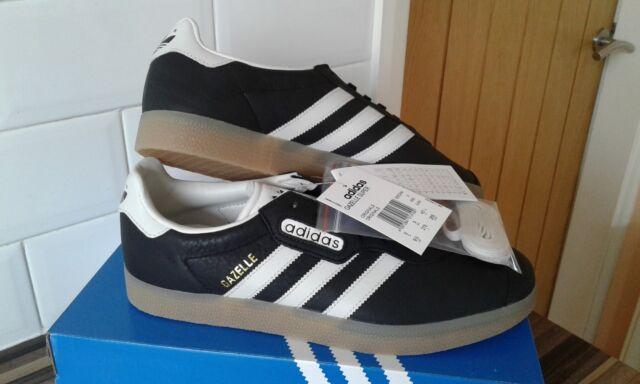 adidas gazzella super originali dei formatori scarpe bianco nero gomma bb5244