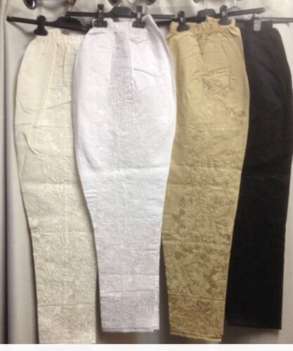 NEW  Stylist Pakistani//Indian Cotton Embroidered elasticated fashion trousers