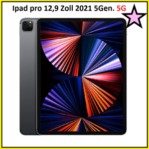 Apple iPad Pro 12,9 Zoll 128GB 5.Gen 2021 Space Gray Wi-Fi + Cellular 5G OVP NEU