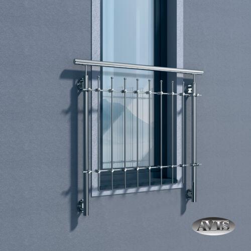 Französischer Balkongitter Fenstergitter Brüstung Edelstahl Balkongeländer