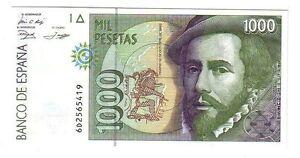 Spagna-Spain-1000-1-000-pesetas-1992-1996-FDS-UNC-pick-163-lotto-2532