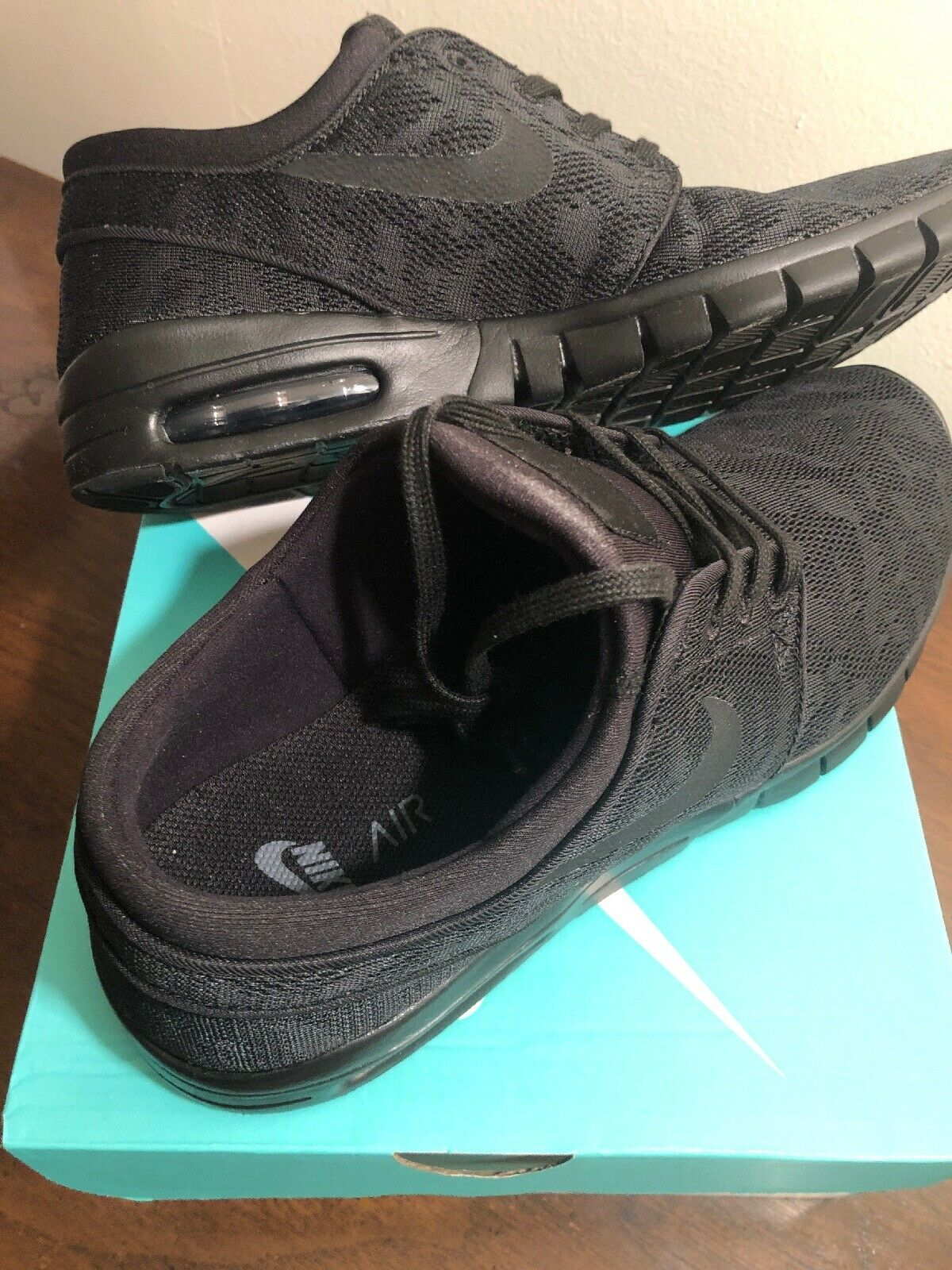new arrivals 8448e 93ef1 Brand Brand Brand New Mens 9 Nike SB Stefan Janoski Max Air Size Black Black  Anthracite
