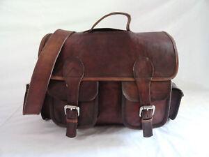 13-034-Vintage-Leather-Briefcase-Messenger-Bag-Satchel-Handbag-Crossbody-Shoulder