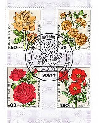 Unparteiisch Brd 1982: Gartenrosen! Wohlfahrtmarken Nr. 1150-1153 Mit Bonner Stempel! 1906