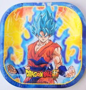 Dragon Ball Z Party PLATES LUNCH Treats Supplies Decoration Loot Asian Boy GOKU