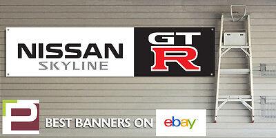 r33 r34 Large 1830mm x 450mm Nissan Skyline GT-R Workshop Garage Banner r32