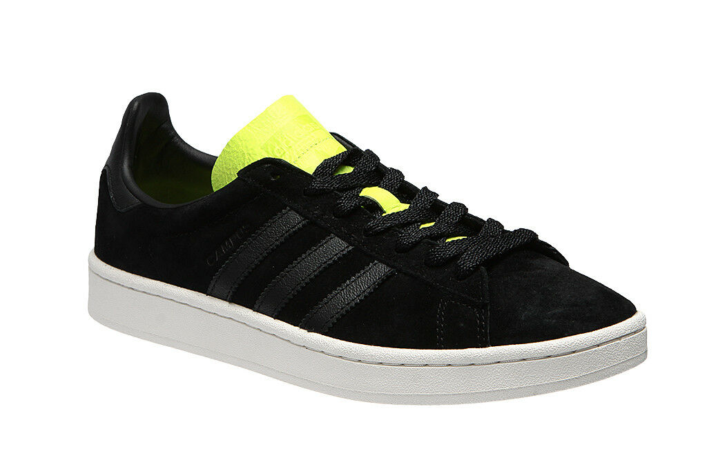 Zapatos  De Fútbol Adidas Originals Campus Gamuza Core 11 Negro solar amarillo BB0082 11 Core Nuevo 7d22d8