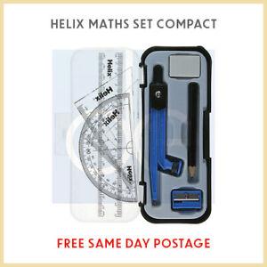 Helix compatto Matematica Geometria Set con BUSSOLA RIGHELLO GONIOMETRO quadrati TEMPERAMATITE