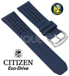 OEM Citizen 23mm Blue Angels Leather Watch Strap Band AT8020-03L H800-S081165