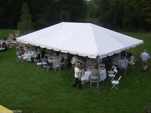 Image is loading 20-x-30-White-West-Coast-Frame-Tent- & 20 x 30 White West Coast Frame Tent Commercial Wedding Canopy ...