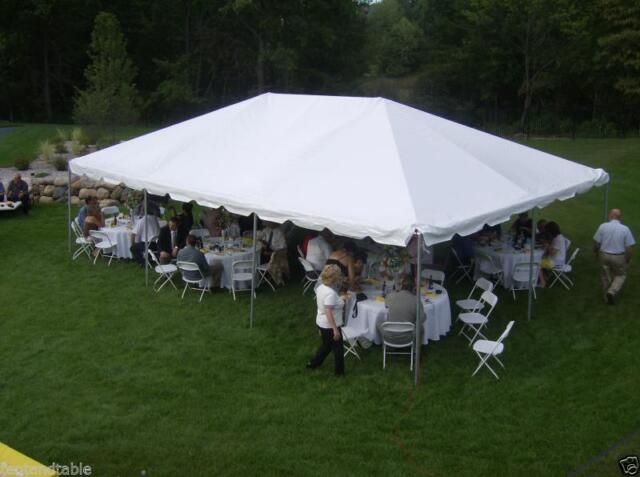 20 x 30 Commercial White West Coast Frame Tent Wedding Canopy Party Event  Tent