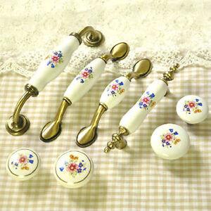 Eg-Fiore-Ceramica-Maniglia-Armadio-Vintage-Cassetto-Pomello-Corretto