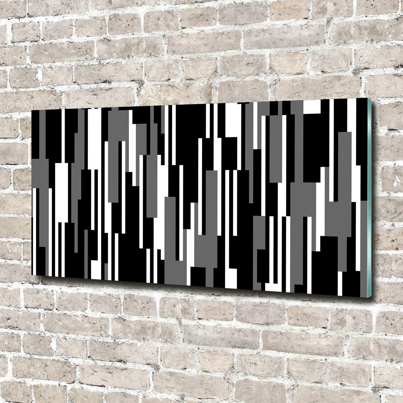 Glas-Bild Wandbilder Druck auf Glas 140x70 Deko Sonstige Schwarz-Weiß-Linien