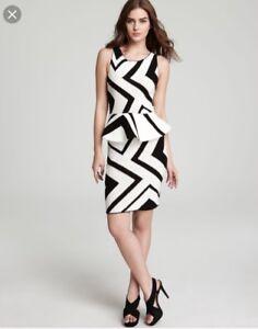 Image Is Loading 597 Alice Olivia Black Dress Geo