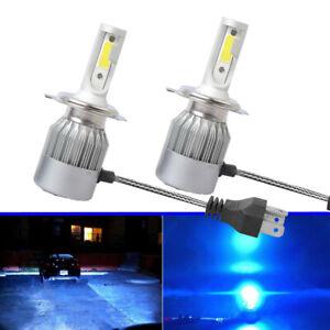 2x-H4-9003-LED-Headlights-Bulbs-55W-8000LM-Kit-High-amp-Low-Beam-Waterproof-Ice-Blue
