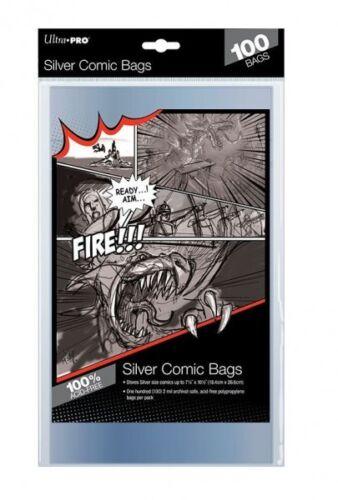 100 pochettes Ultra Pro Comics Silver Size bags 184 x 266 mm 81976