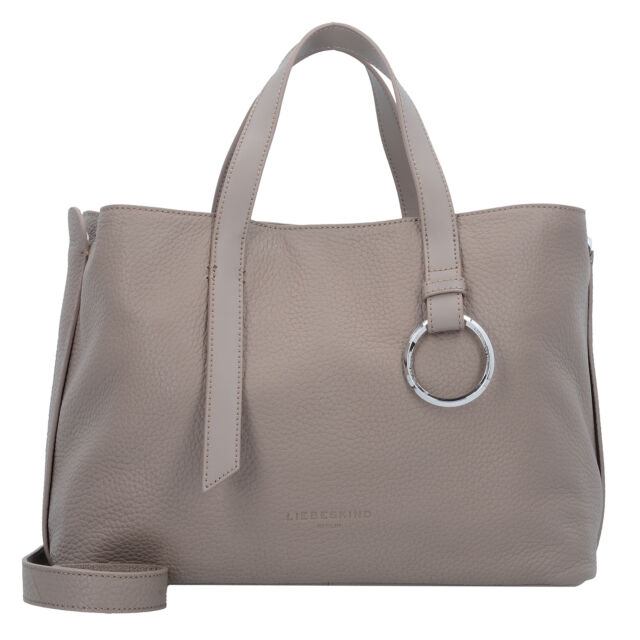 9e748c43d8207 Liebeskind SatchelL Handtasche Henkeltasche Damen Leder 33 cm (cold grey)