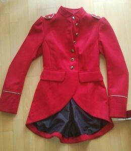 cheap for discount 6eab0 501cc Details zu Besonderer Damen Mantel rot von Mis-Behave Vintage UK 10 / 36 /  S Cosplay
