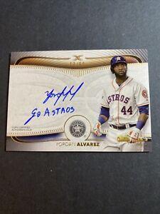 2021 Topps Definitive Baseball Yordan Alvarez On Card Auto Go Astros 13/50